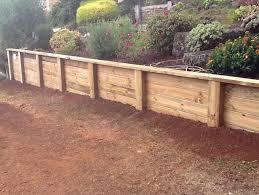 timber retaining walls central coast